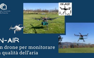 A drone to monitor air quality
