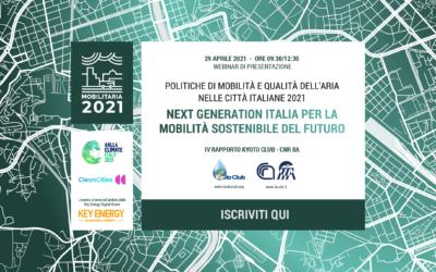 """Presentazione del rapporto """"MobilitAria 2021"""""""