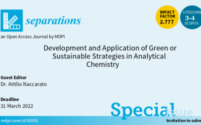 """Special Issue """"Development and Application of Green or Sustainable Strategies in Analytical Chemistry"""""""
