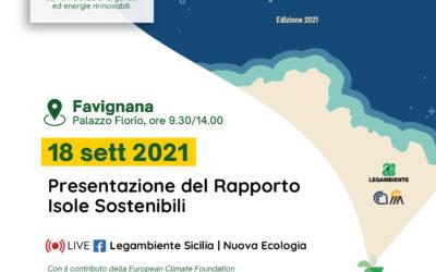 Presentazione Rapporto Isole Sostenibili 2021
